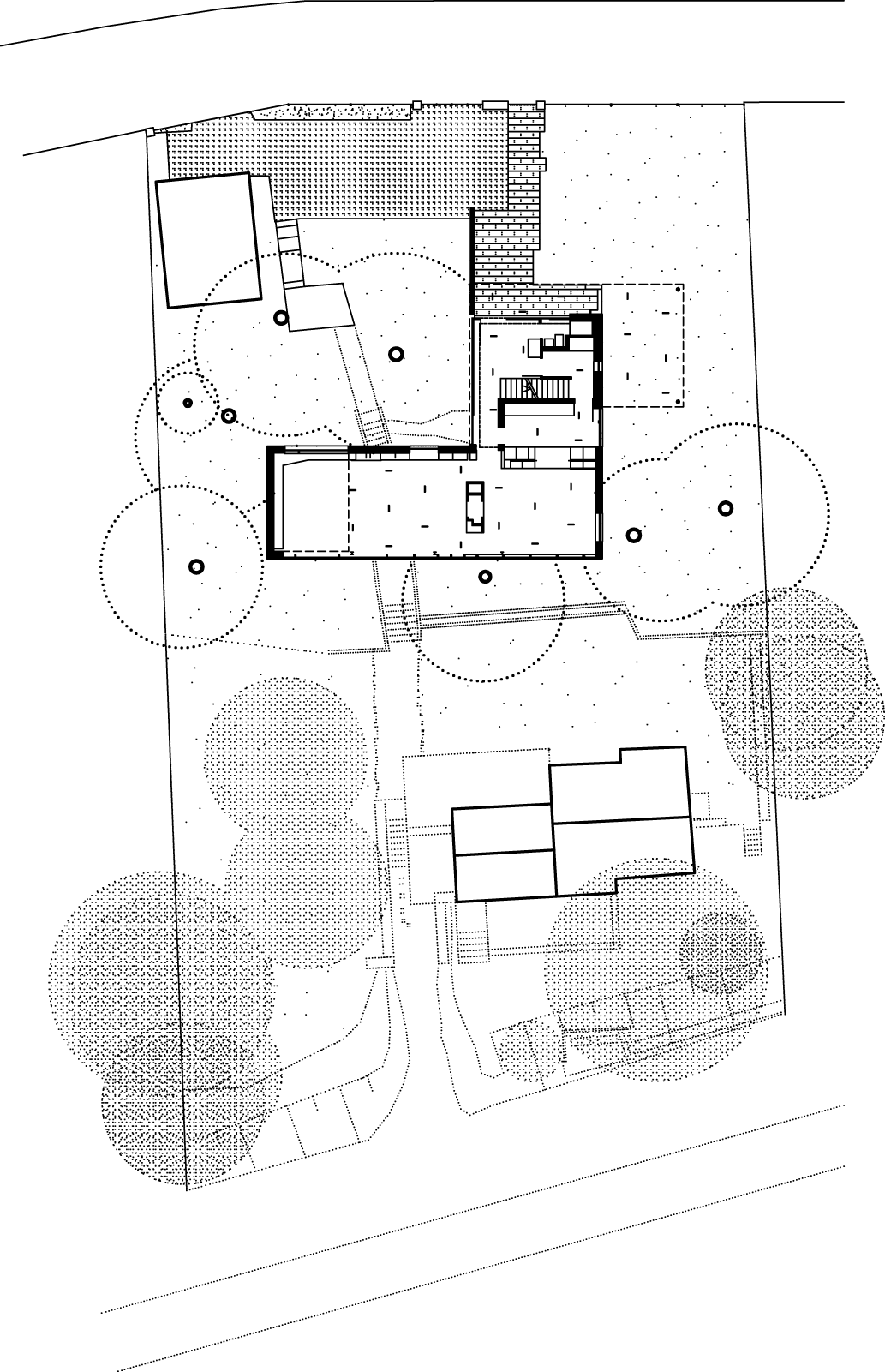 Einfamilienhaus Haus P3, Potsdam: Lageplan / Grundriss Erdgeschoss